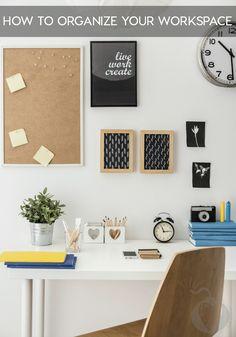 How To Organize Your Workspace And Live A Happier Life via @jamieharrington