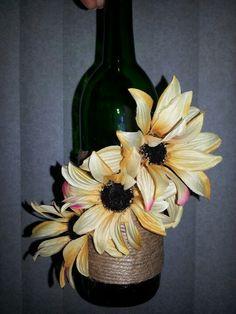 Cute wine bottle craft