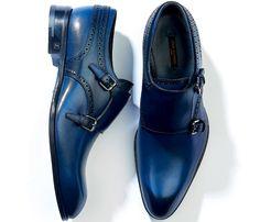 Men Monk Blue Shoes, Handmade Plain Toe Black Sole Dress Shoe, Men Blue Dress Monk, Double buckle monk shoes, Blue Dress Shoes size US Blue Shoes, Men's Shoes, Shoe Boots, Dress Shoes, Shoes Men, Dress Clothes, Shoes Style, Men's Style, Ankle Boots