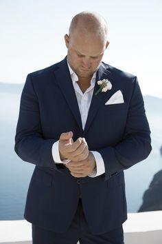 Groom Attire, Suit, Details, Style, Caldera View, Trends, Santorini Weddings