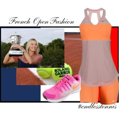 """""""French Open Fashions from Nike"""" by tennisexpress #frenchopen #rolandgarros #endlesstennis"""