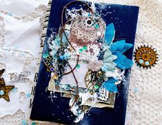 "My territory: Boho-chic notebook ""Gypsy Soul"" Bee Creative, Mixed Media Scrapbooking, Gypsy Soul, Mixed Media Art, Altered Art, Mini Albums, Boho Chic, Shabby, Collage"