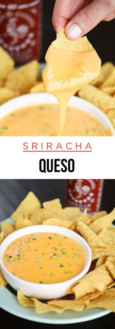 Lazy Girl Sriracha Queso 25 Incredibly Cheesy Recipes You Need In Your Life Spicy Recipes, Mexican Food Recipes, Appetizer Recipes, Cooking Recipes, Cheesy Recipes, Sriracha Recipes, Appetizers, Sriracha Sauce, Dip Recipes