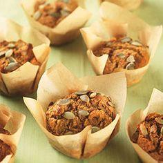 Whole Wheat Pumpkin Spice Muffins: Diabetes Forecast®  Pumpkin Spice Muffins Makes: 8 Serving Size: 2 muffins Calories95