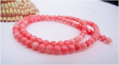 Pink Coral Beads 5  5.5 mm Full Strand 16 in by lyrisgems2supplies, $5.00