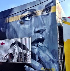 by RONE in Miami (LP) I have a pic of this painting! The building is currently up for lease!
