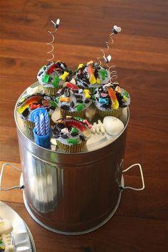 Trash Pack cupcakes #trashpack #cake #birthday