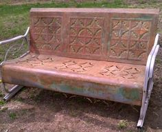 I refinished this $5 roadside bench.   mt