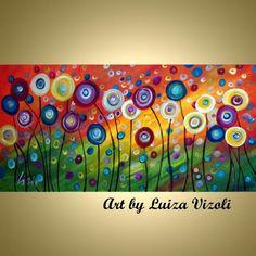 Art: custom painting   Poppies by Artist LUIZA VIZOLI