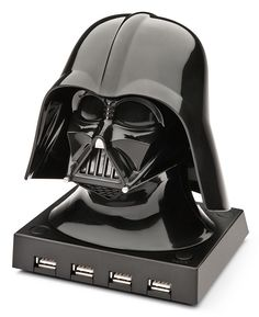 If your USB ports are overflowing, plug in this Darth Vader USB hub for more plug-in real estate.