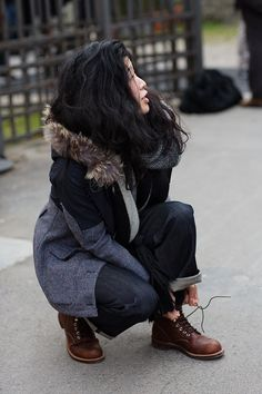 I want to be this girl.  Such awesome style!! via the sartorialist