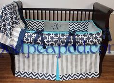 Unique Authentic ModPeaPod Baby Crib Bedding Set Gorgeous Modern Luxurious by ModernPeaPod on Etsy https://www.etsy.com/listing/88361970/unique-authentic-modpeapod-baby-crib