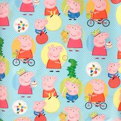 Plenty of Peppa Pig themed roll wrap for wrapping gifts for the birthday child! http://tidd.ly/39206af #peppapiggifts #peppaandgeorge #peppapigparty #peppapig #gift