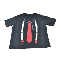 Toddler Adult Suit Tie Suspenders Authentic TShirt Baby Spencers Graphic Tee 3T *** You can find more details by visiting the image link. (This is an affiliate link) #BabyBoyTops