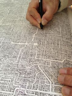 prostheticknowledge:    Hand Drawn Maze on A4 Paper Took 7 Years to Make  Via Spoon and Tamago:    Some people have hobbies. Other people are obsessive. But when the two cross paths, this is what you get. Japanese twitter user @Kya7y recently unearthed an incredibly detailed maze that her father created almost 30 years ago. When pressed for details, the father explained that he spent 7 years creating the map on A1 size paper, which is about 33 x 23 inches.    More Here