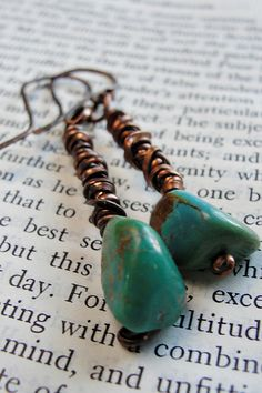 Turquoise and copper earrings | hjwestfall | Flickr