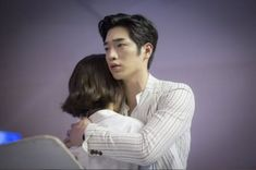 """Seo Kang Joon Locks Gong Seung Yeon In A Secure Embrace In """"Are You Human, Too?""""Upcoming KBS robot romance """"Are You Human, Too?"""" released stills of Seo Kang Joon and Gong Seung Yeon sharing a secure hug.""""Are You Human, Too? Seo Kang Joon, Kang Jun, Gong Seung Yeon, Seung Hwan, Korean Celebrities, Korean Actors, Korean Dramas, Korean Idols, Web Drama"""