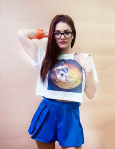 white womens oversized top  photo print Womens by PhotoSinsApparel, $34.00