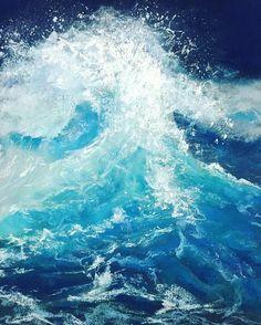Wave by @createonemore #softpastel #pasteldrawing #bestpastelart by bestpastelart
