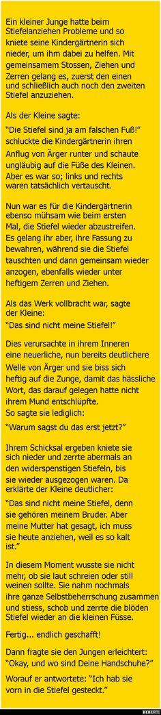 Ein kleiner Junge hatte beim Stiefelanziehen Probleme | DEBESTE.de, Lustige Bilder, Sprüche, Witze und Videos (Cool Quotes Funny)