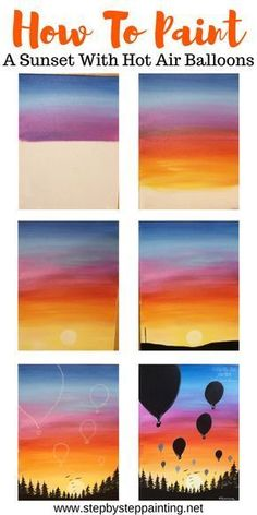 painting Sunset Painting - Learn To Paint An Easy Sunset With Acrylics Create your very own sunset painitng with acrylics. This step by step acrylic painitng tutorial for beginners will guide you through the techniques. Easy Canvas Art, Simple Canvas Paintings, Small Canvas Art, Easy Canvas Painting, Mini Canvas Art, Acrylic Canvas, Sunset Acrylic Painting, Easy Acrylic Paintings, Easy Art