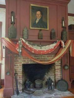 HOME DECOR – FIREPLACE – a farmhouse fireplace tradition.