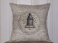 shabby chic french country vintage bee hive sham by kreativbyerika, $30.00
