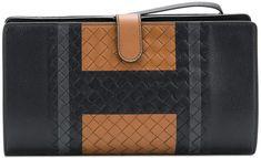 Bottega Veneta intrecciato weave portfolio clutch