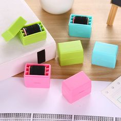 Messy Code ID Guard Mini Roller Stamp Self-inking Privacy Protection Stamp  #Affiliate