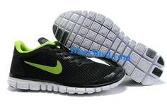 Black Volt Nike Free 3.0 V2 Men's Running Shoes