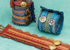 DIY Cuff Bracelet Article #2: Paint n Stitch Cuffs Wrist Wearables by Mandy Russell