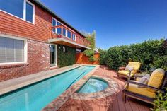 Small but sweet pool in the back of this home sold by Nadine & Camara - Decker Bullock Sotheby's