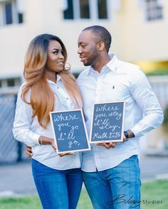 Happy Sunday y'all. How cute are these two and their signs? #ruth1vs16 📷 @blawz_, makeup by #prettyperfectpartner  @facesbylabisi, #signs by @thequeentonie. . . . . .  #engagement #myring #engaged #bling #myrock #engagementrock #weddingtime #weregettingmarried #married #justmarried #soontobe #gettingmarried #weddingplanning #bridal #bridaltrain #bridalparty #weddingparty #weddingdress #whitedress #weddingdate  #weddingchecklist #engagementparty