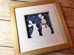 'Snow Fun' - Medium Original Papercut