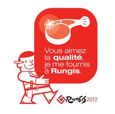 The Rungis Sticker is a sign of your status as a buyer in Rungis. It helps in spreading positive values about Rungis to your customers. Macarons, Logos, Meat, Logo, Macaroons