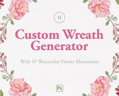 Create Limitless Flower Wreaths Instantly Erase the need to tackle other hard to use options and softwares to create wreaths- no brushes, no actions, no patterns, no strokes…. Instead you can create your own wreaths in Adobe Photoshop in seconds. All you need to do is just create your own composition with smart object layers. ... read more