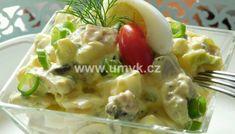 Kuřecí stehna pečená na bramborách a žampionech – U Miládky v kuchyni Potato Salad, Potatoes, Ethnic Recipes, Food, Potato, Essen, Meals, Yemek, Eten