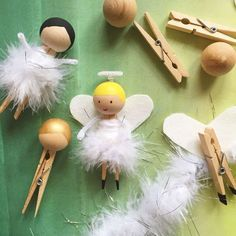 Clothespin fairy or angel craft for Christmas. Also turn it into an ornament! | Projectkid.com