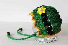 St. Patrick's Day Baby Hat, Green Crochet St. Patty's Day Infant Hat, Baby Bonnet, Newborn Photography Prop - Ready to ship size 0-3 mos.. $25.00, via Etsy.