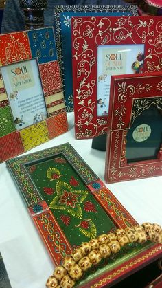 Handpainted , wooden, Fairtrade home decor products @ Soul of India exhibition in Milton Keynes.