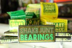 #shakejunt bearings and hardware are at #OrbitSkate! Come get yours today! Facebook.com/orbit.skate