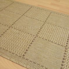 Super sisalo anti slip kitchen runners in beige buy online from the rug seller uk Kitchen Runner, Power Loom, Runners, Beige, Rugs, Crochet, Stuff To Buy, Home Decor, Farmhouse Rugs