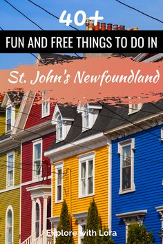 There are so many fun things to do in St. John's Newfoundland that you'll want a few days to explore this vibrant city. Discover the best places to visit, restaurants to eat, and where to stay while visiting St. John's NL. #StJohns #Newfoundland Travel Guides, Travel Tips, Travel Destinations, East Coast Canada, Ontario Travel, Canadian Travel, Atlantic Canada, Western Canada, Newfoundland And Labrador