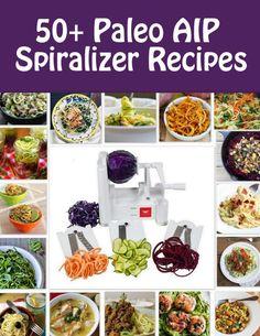 #paleo #zoodles 50+ Paleo AIP Spiralizer Recipes | Phoenix Helix