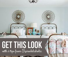 Get This Look: Girls' Shared Bedroom Symmetry via Remodelaholic.com