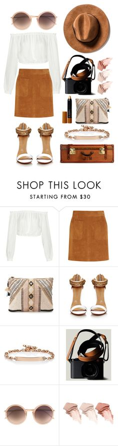 """""""Untitled #234"""" by bechs ❤ liked on Polyvore featuring Elizabeth and James, Frame Denim, BLANK, Hoorsenbuhs, Linda Farrow, Too Faced Cosmetics and Iman"""