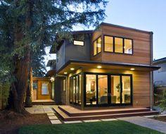 WOOD House Design Interior and Exterior Creative Ideas Wood House Design, Modern House Design, Design Exterior, Modern Exterior, Dream Home Design, Home Interior Design, House Design Pictures, Two Storey House, Cedar Siding