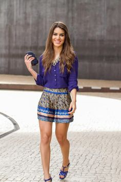 Shorts: Asos / Camisa & Colar: Zara / Sandals : YSL / ring: Lela Accessories