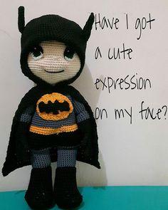 Yes 😚 #crochetdoll #batmandoll #amigurumi #myhandmade  #stilllearing #crocheting