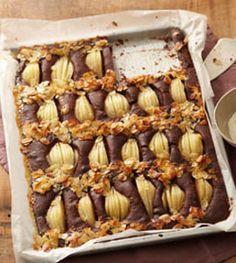 Birnenkuchen vom Blech - Backen im Herbst: Kuchen, Torten & mehr - [LIVING AT HOME]